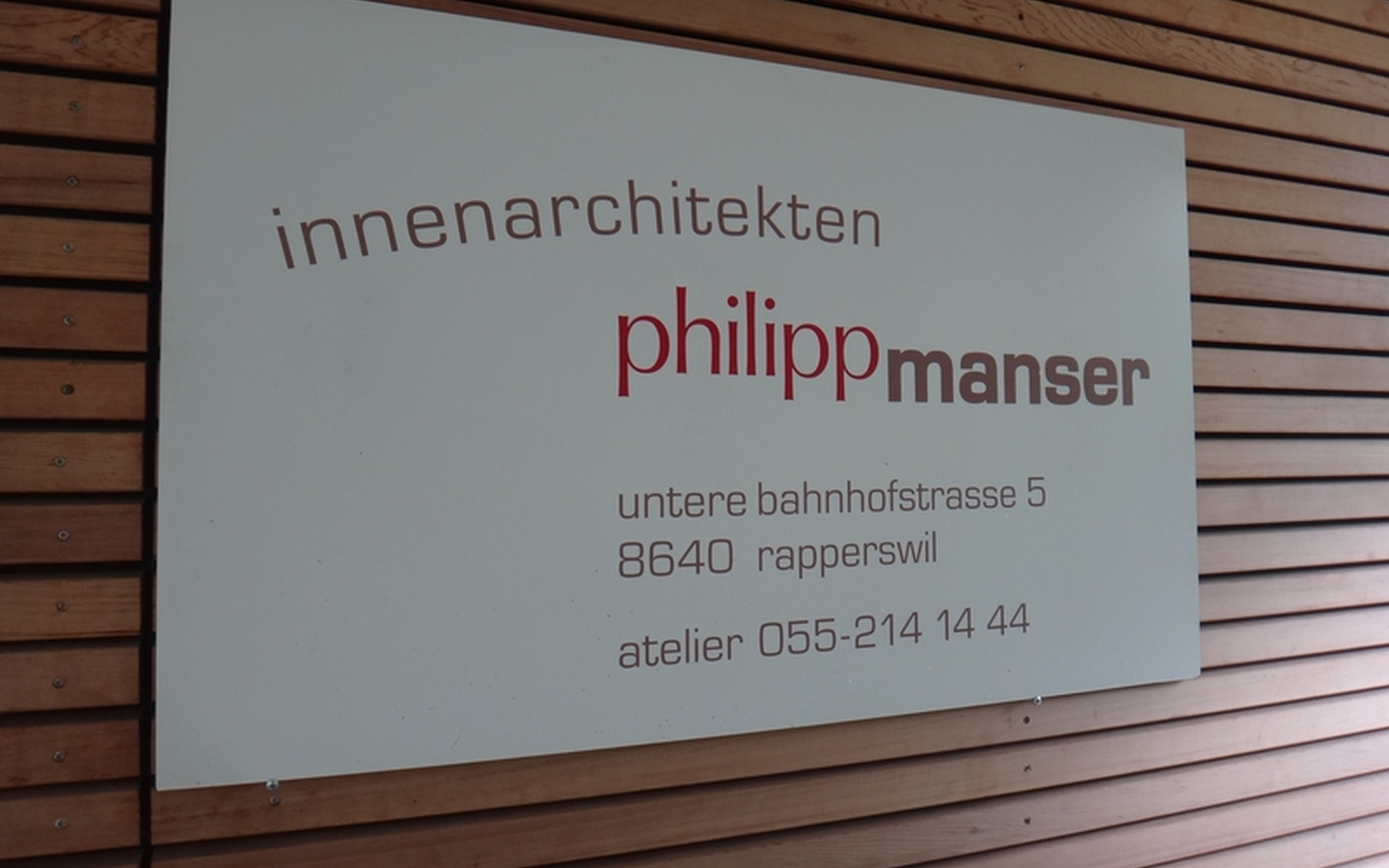 Innenarchitektur Rapperswil kontakt innenarchitekten philipp manser
